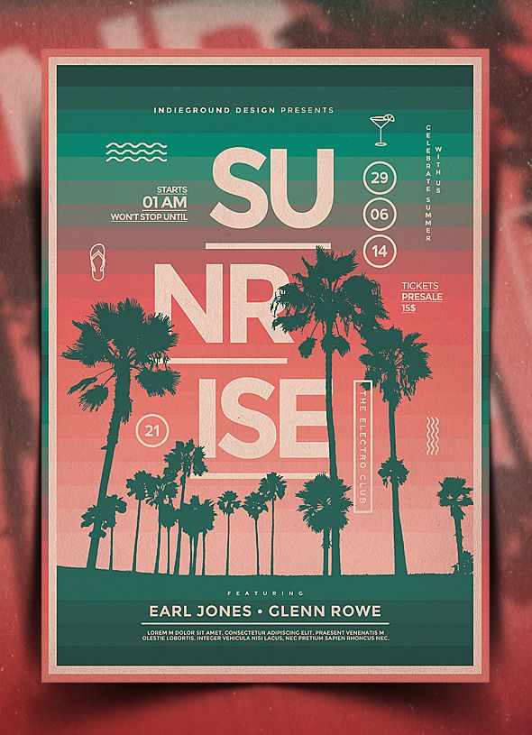 Summer Poster Template Vol  By Indieground On Deviantart