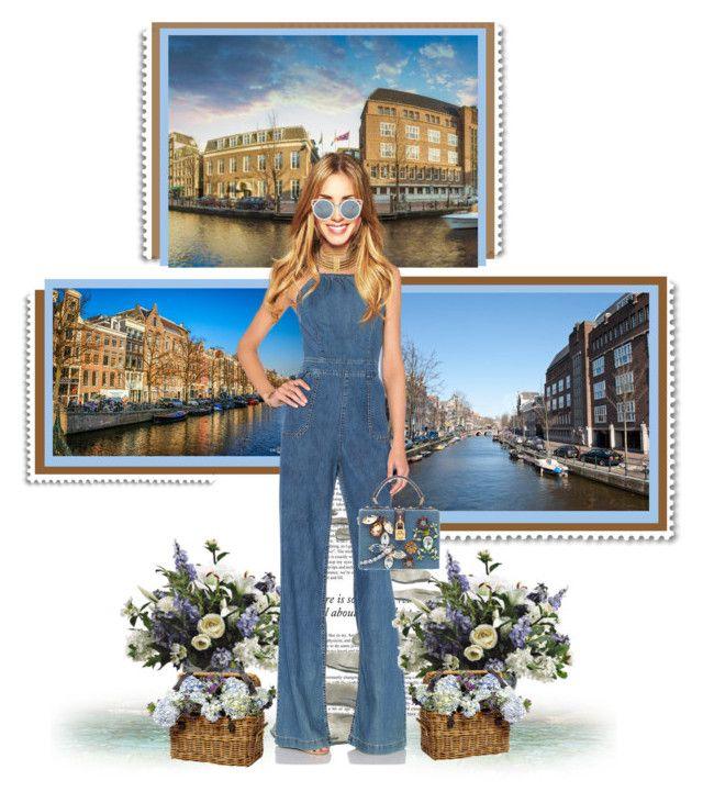 """""""Day in Amsterdam  ☀"""" by annynavarro ❤ liked on Polyvore featuring Haze, PATH, Paige Denim, Balmain, Erdem, Dolce&Gabbana, travel and fashionset"""