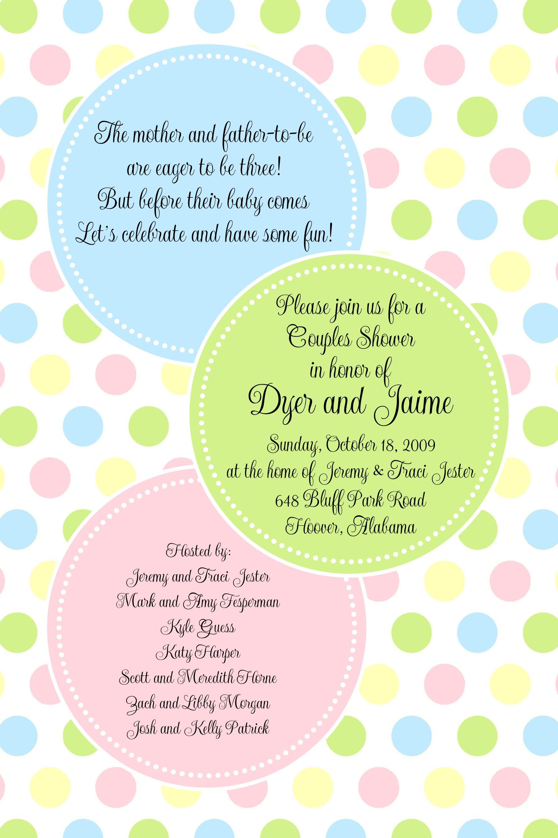 pb pastel big dots baby shower invitation paper belle polka dot