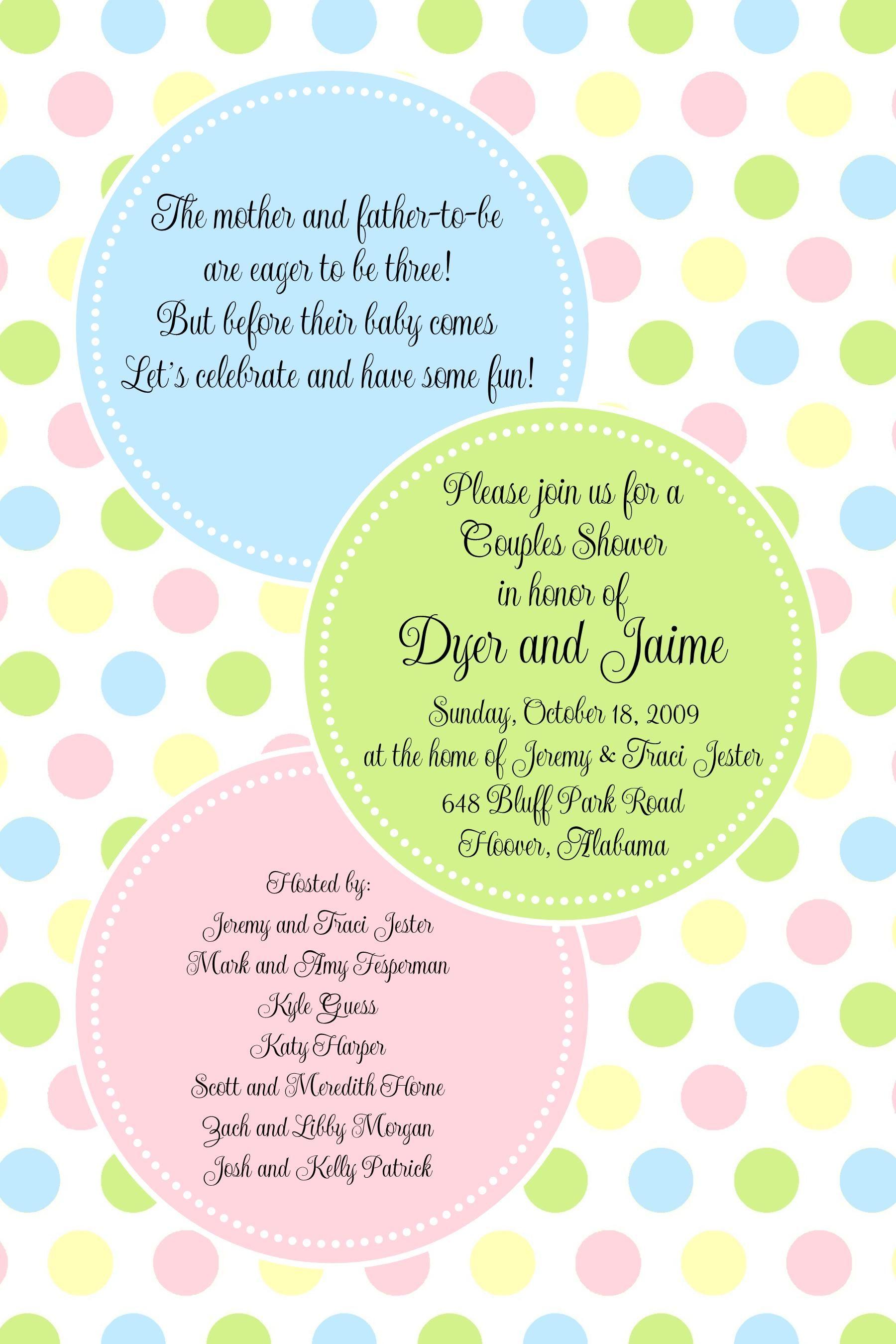 pb- pastel big dots-baby shower invitation, paper belle, polka dot, Baby shower invitations