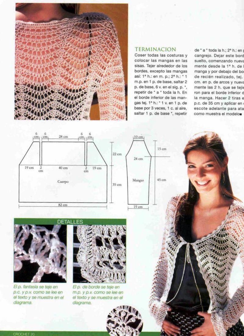 Solo esquemas y diseños de crochet | Sacos | Pinterest | Esquemas ...
