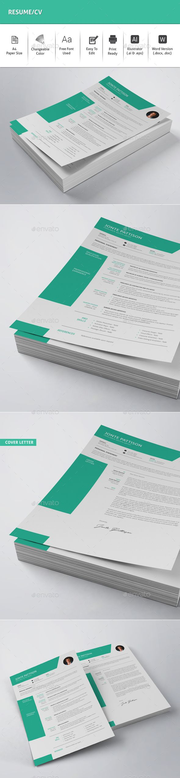 Cv Templates Design%0A Resume   CV Template Vector EPS  AI  DOCX  u     DOC