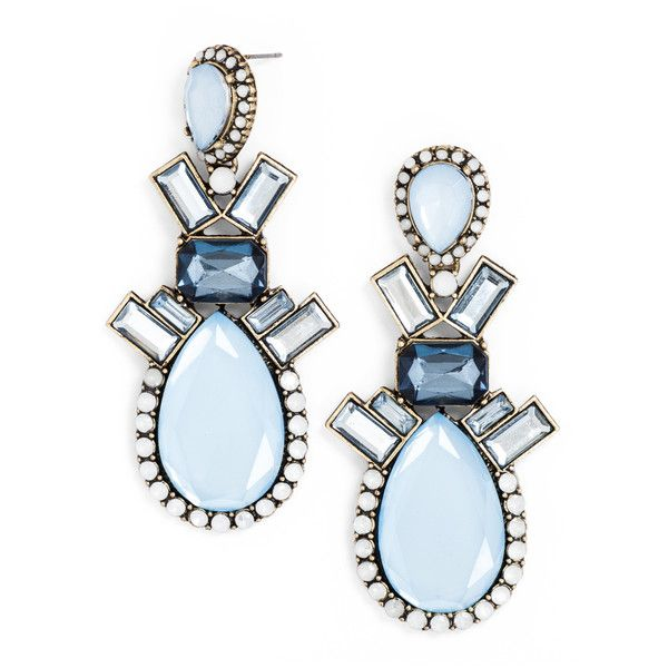 Milky Galactic Drops ($10) ❤ liked on Polyvore featuring jewelry, earrings, accessories, baublebar, blue, tear drop earrings, blue statement earrings, blue teardrop earrings, cosmic jewelry and teardrop earrings