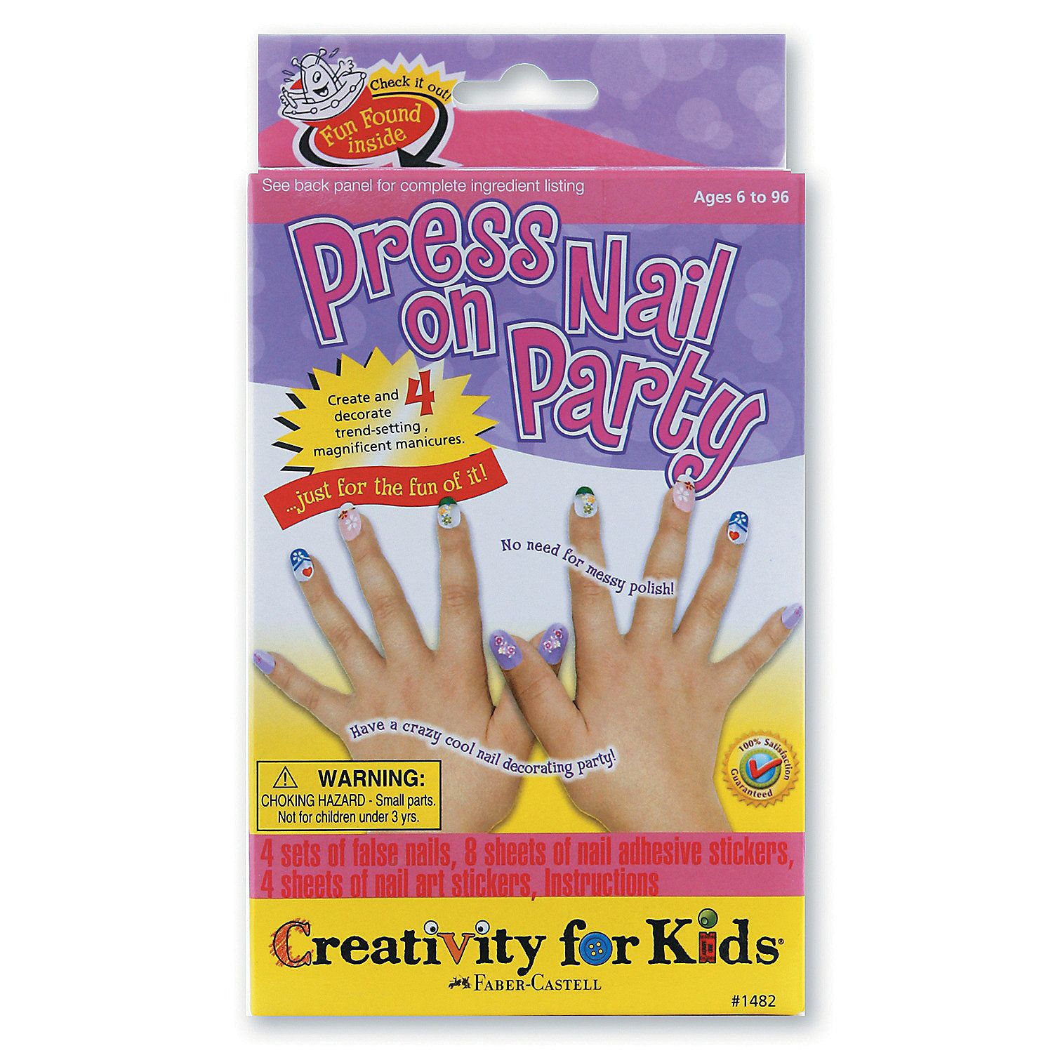 Creativity for kids press on nail party kit with images