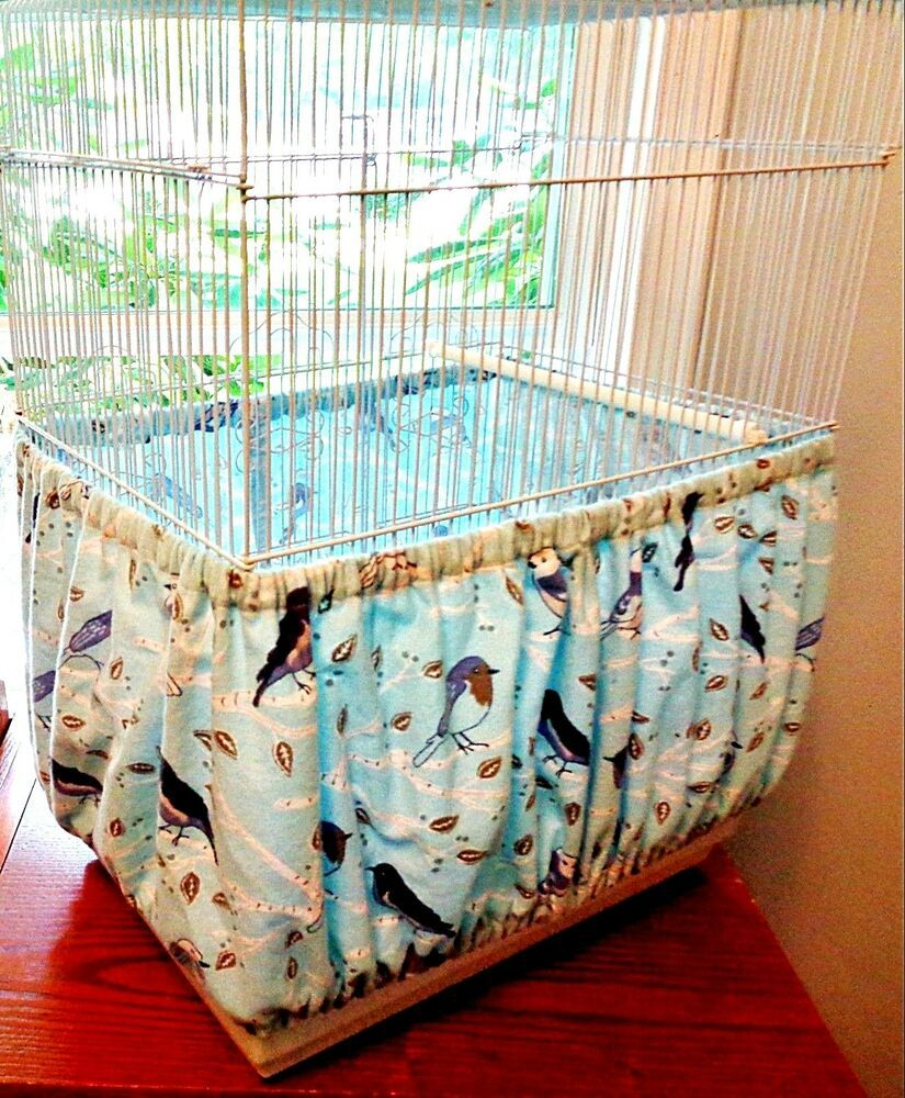 LARGE Bird CAGE Seed Catcher Skirt Tiny Floral Print
