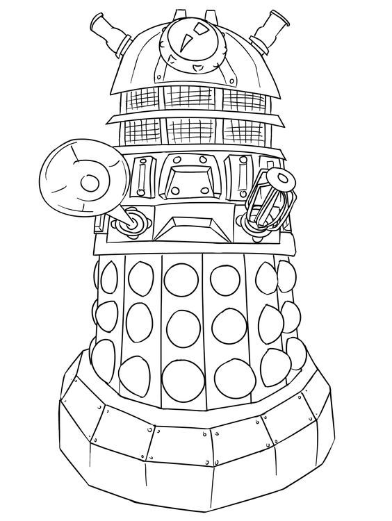 Dr Who Coloring Page | Coloring (Adult) | Coloring pages, Adult ...