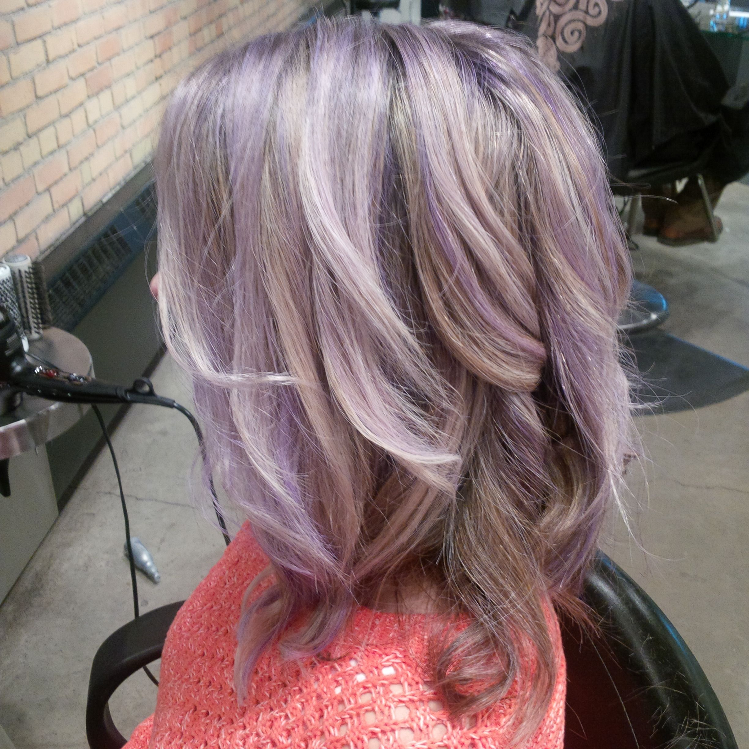 Love My New Colour Wanted To Show It Off Lilac Highlights With Blonde Hair Hair Highlights Purple Highlights Blonde Hair Hair