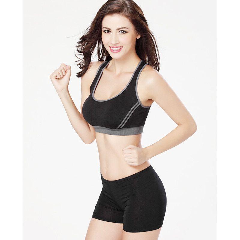 2b8eb64ff6a Women Sports Bra Professional Running Fitness Athletic Yoga Bra Sexy Push  Up Seamless Underwear Athletic Vest Top Professional Sports Underwear Sport  + ...