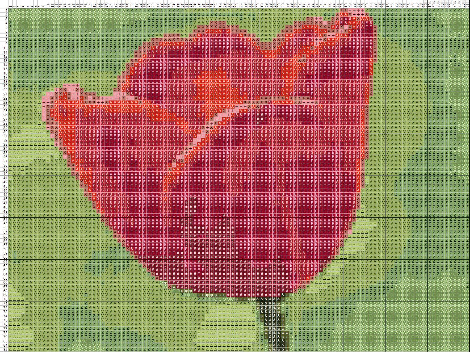 Схеми квітів для вишивки хрестиком - тюльпан