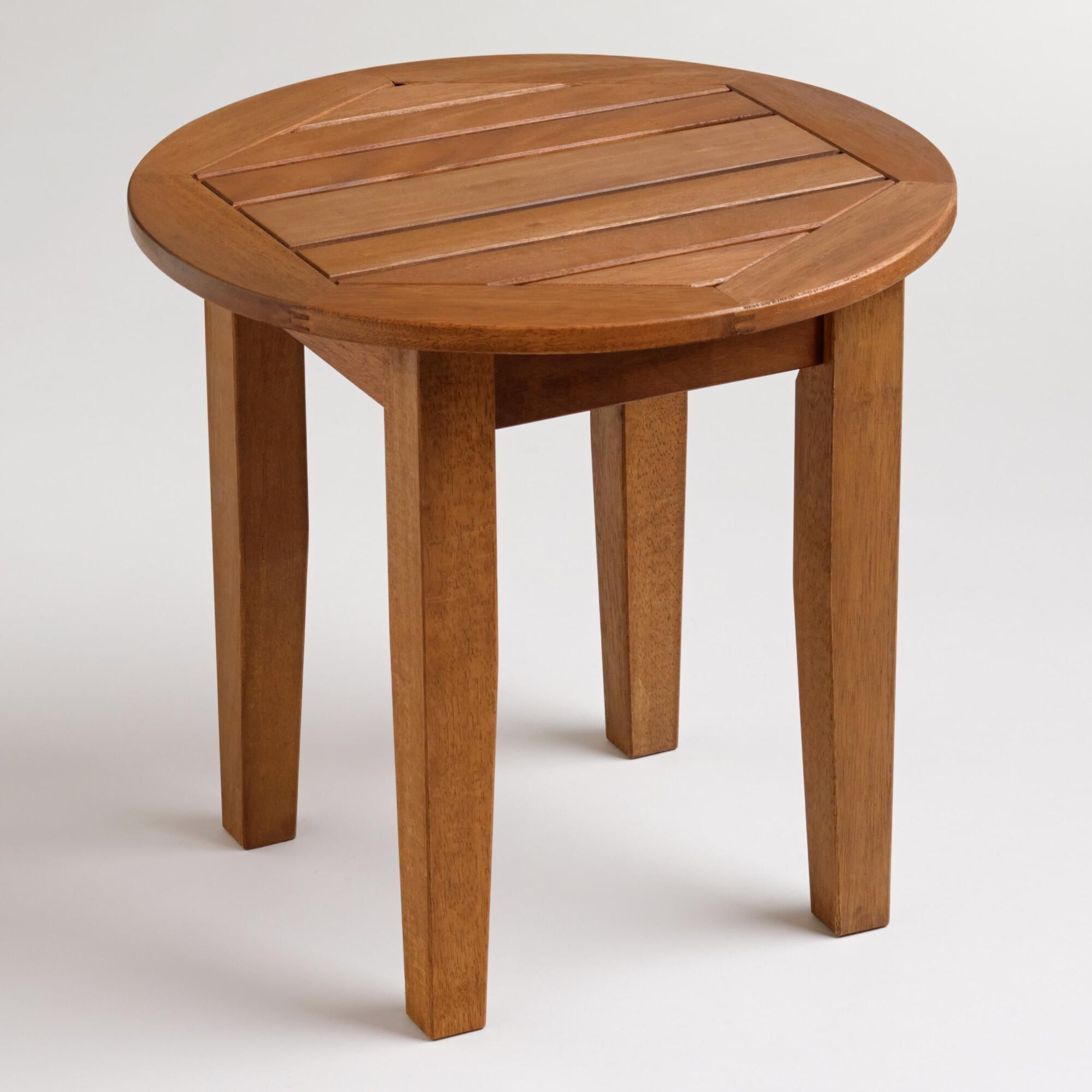 Wood St Martin Side Table Outdoor Entertaining Decor Side Table Decor [ 2000 x 2000 Pixel ]