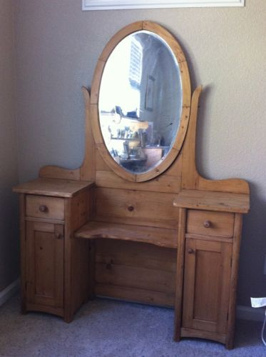 Woman\'s Vanity, stripped pine, 1800s in Antiques, Furniture ...