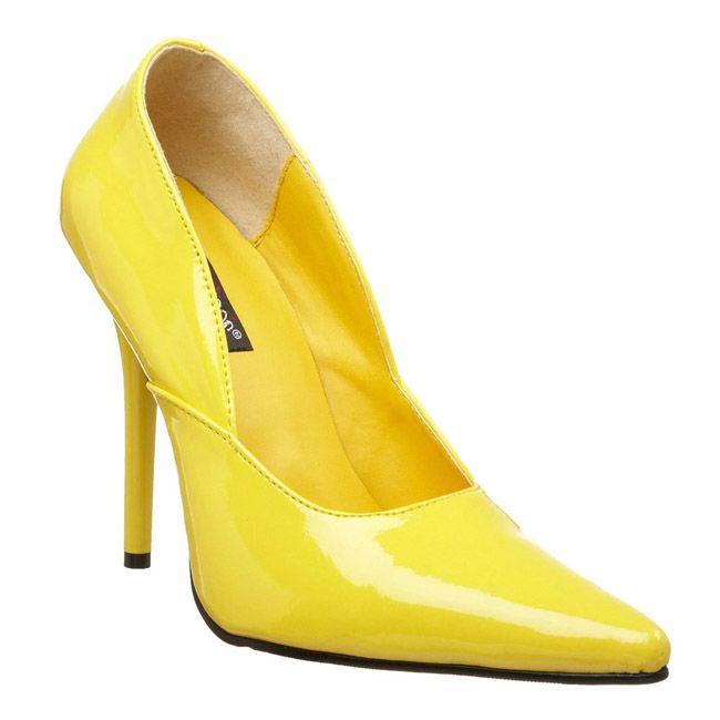premium selection 1be84 a227e Amarillo Charol 12 cm - Stiletto Zapatos Tacon de Aguja