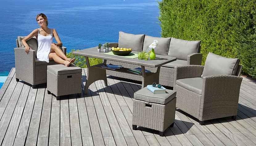 Konifera Loungeset Amsterdam 16 Tlg 3er Sofa 2 Sessel 2 Hocker Tisch Polyrattan Online Kaufen 3er Sofa Gartenmobel Sets Und Outdoor Dekorationen
