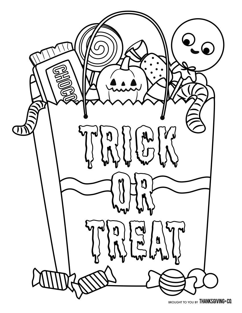 Free Halloween coloring pages for kids (or for the kid in