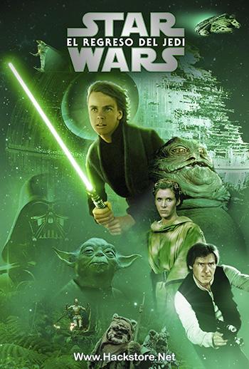 Star Wars 6 1983 Blu Ray Y Dvdrip Audio Latino Subs Hackstore Poster De Peliculas Pelicula De Star Wars Afiche De Pelicula