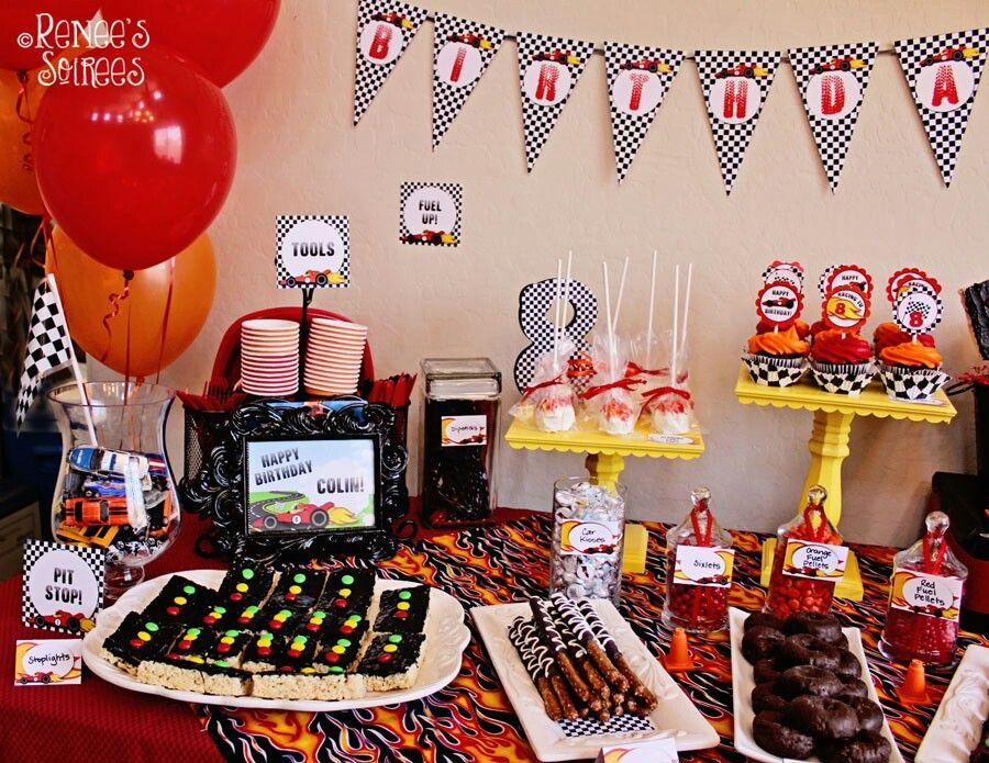 Mesa De Snacks Hot Wheels Party Festejo Mesa De Snack