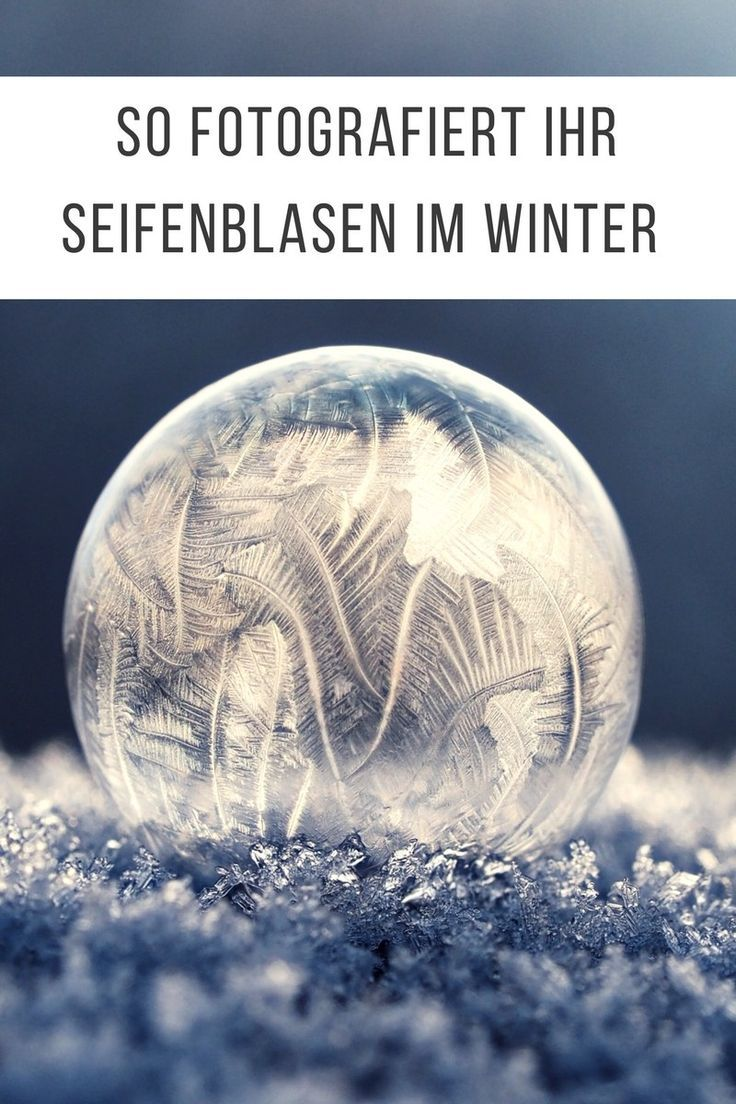 Photo of Photograph soap bubbles in winter