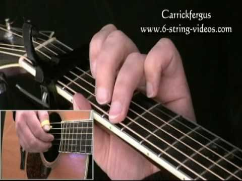 Learn To Play Carrickfergus On Acoustic Guitar Irish Folk Song