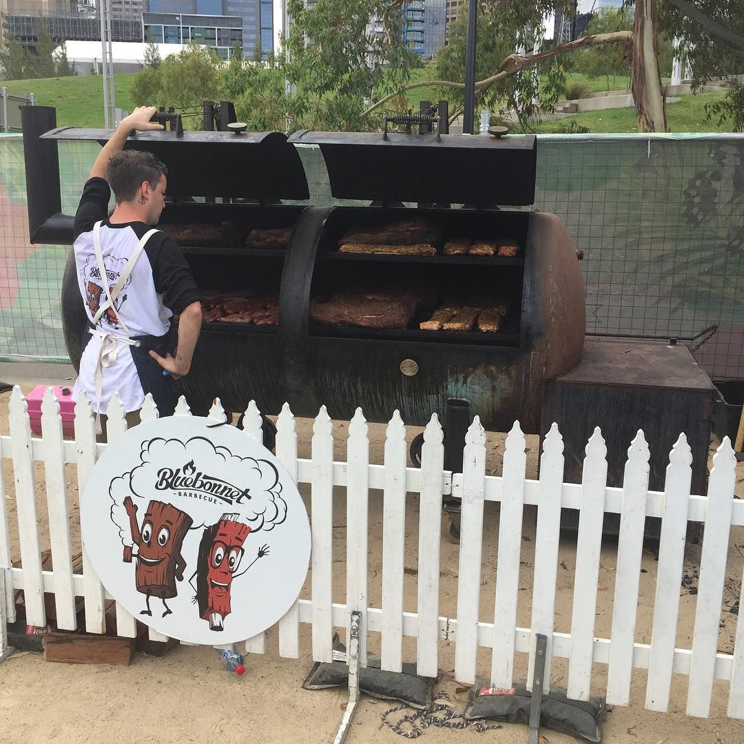 White apron melbourne - Bluebonnet Bbq Melbourne Wearing A Cargo Crew Barkly Bib Apron Available From Http