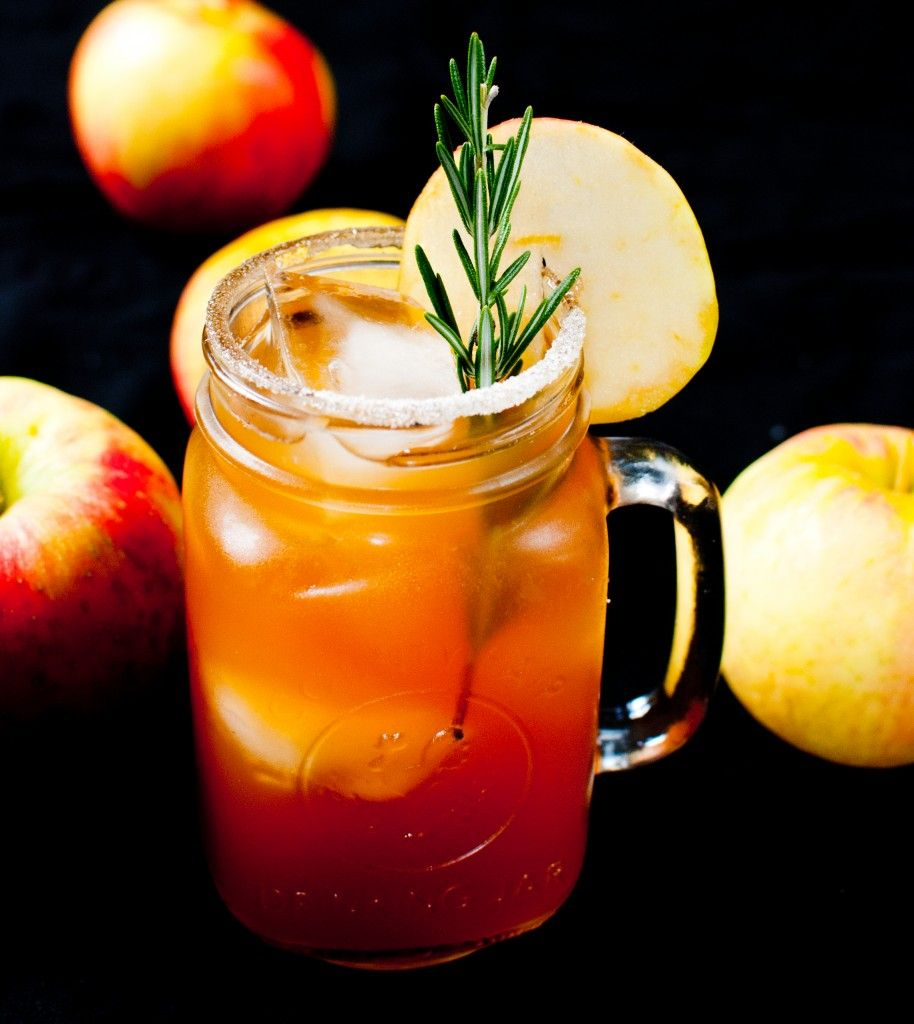 Apple Cider And Bourbon Cocktail (maple And Rosemary, Too