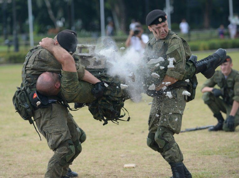 Russian Marines in smashing Philippine charm offensive