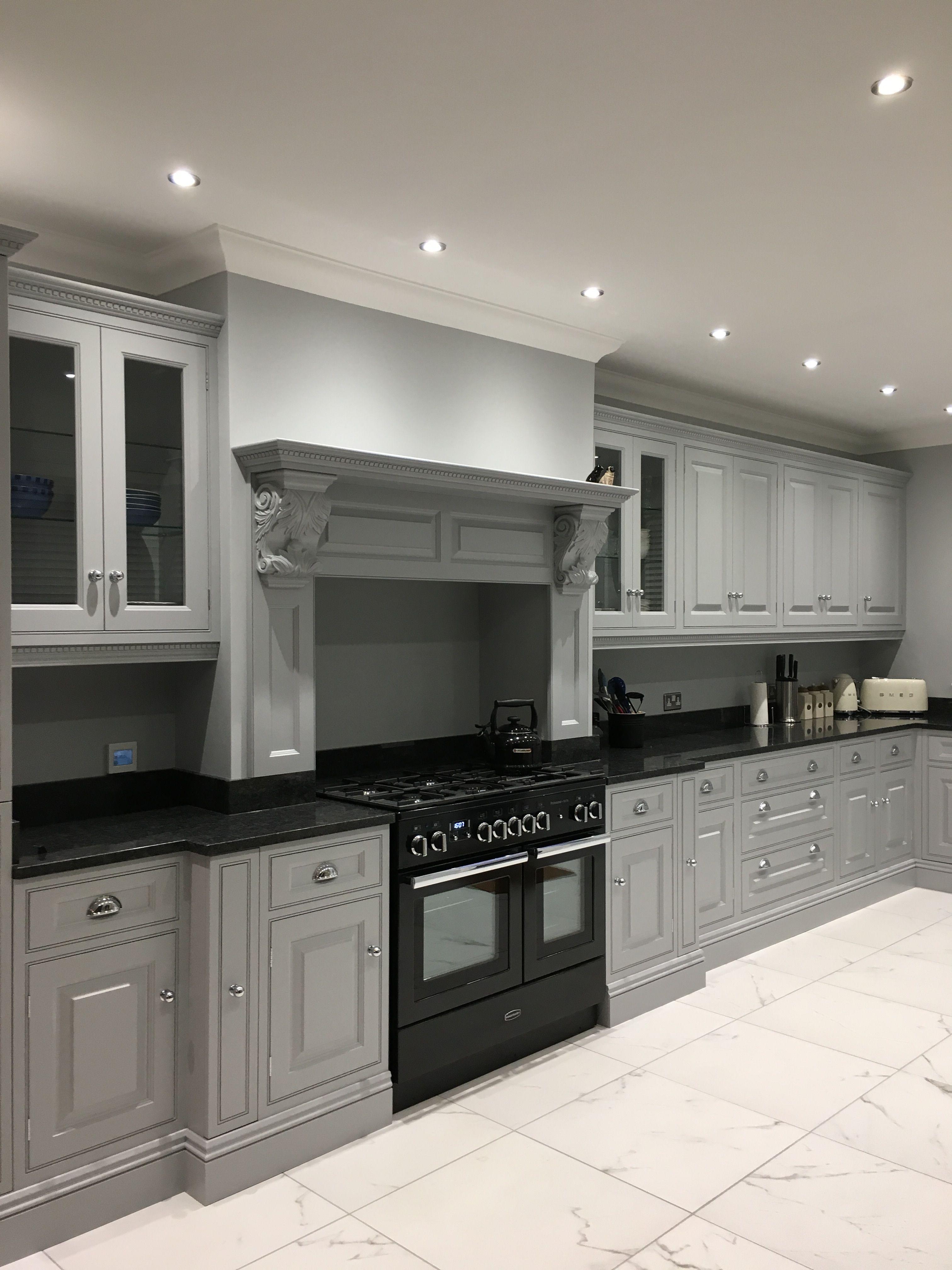 Steel Grey Victorian Kitchen Victorian Kitchen Traditional Kitchen Kitchen