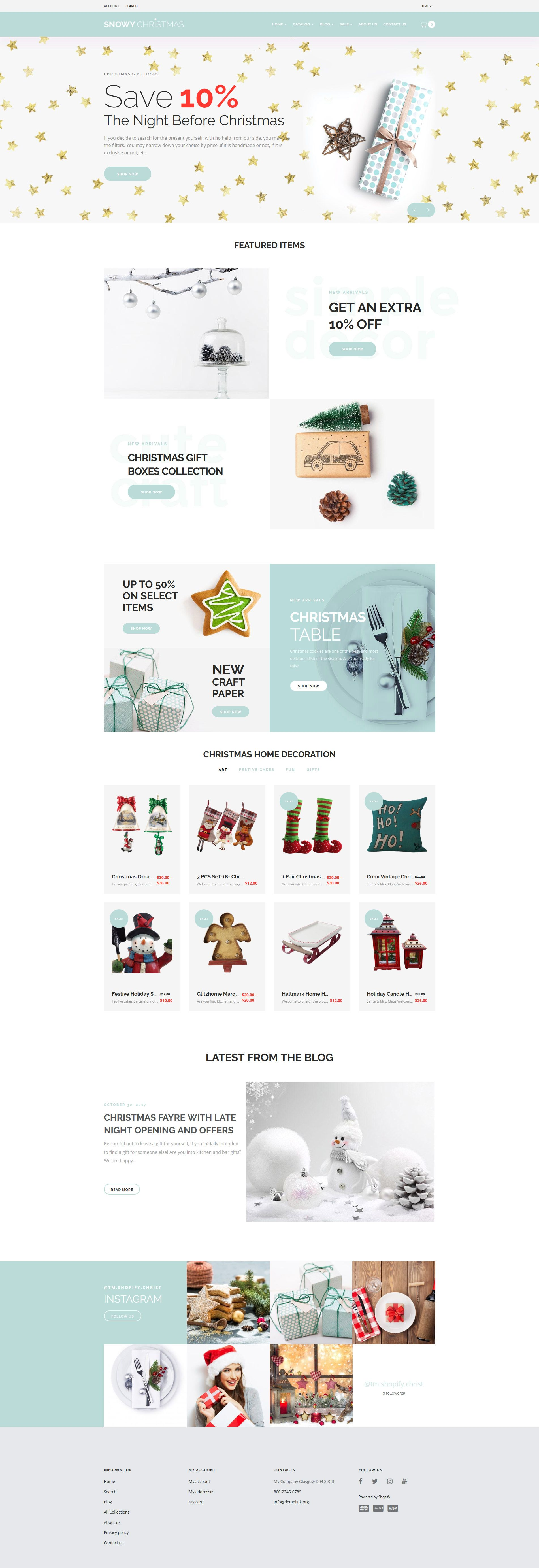 Use our Christmas Gifts Shopify Theme for your online shop. You can clearly organize your online store using the drop-down mega menu with an ability of setting up the columns, lines, icons and background images. Buyers will be able to make a list of desired products and compare several products with each other.  #christmas2019 #christmasgifts #giftswebsite #giftstemplate # https://www.templatemonster.com/shopify-themes/snowy-christmas-christmas-gifts-shopify-theme-65816.html