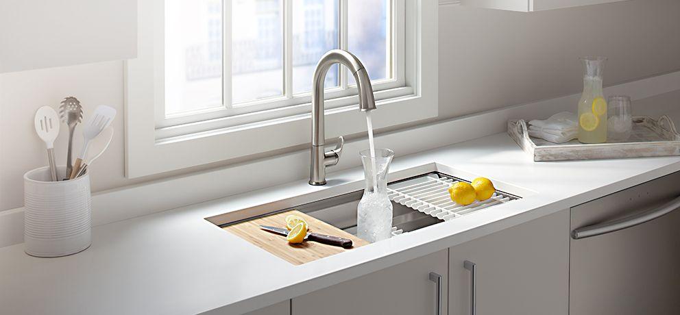 Atemberaubend Küchenschürze Waschbecken Kohler Zeitgenössisch ...