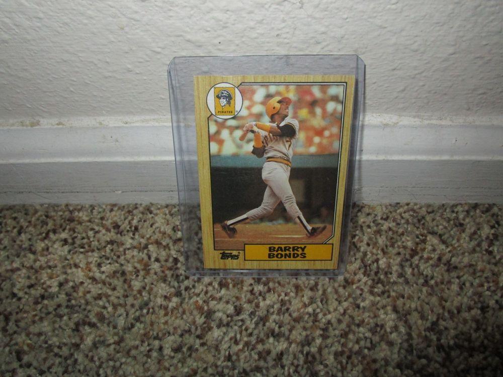 1987 Topps Barry Bonds Misprint Rookie Card 320 Print Error