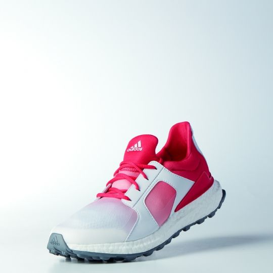 Adidas Ladies Climacross Boost Golf Shoes - Core Pink/White/Silver Met.