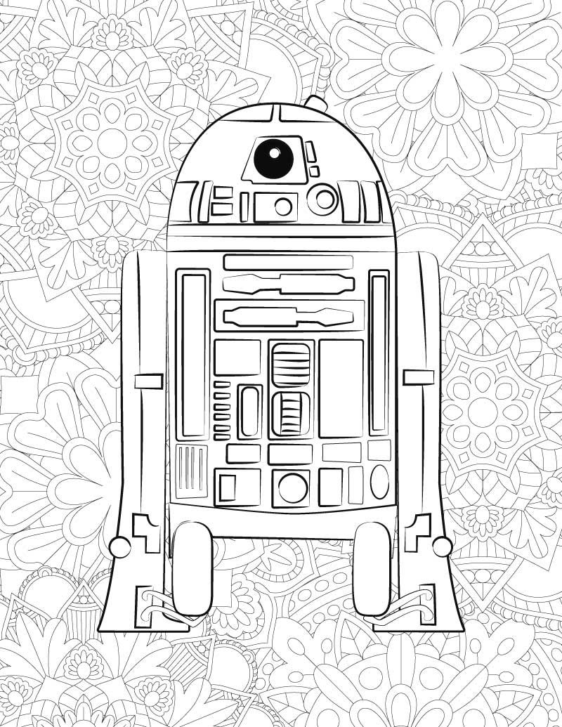 FREE Star Wars Printable Coloring Pages BB8 C2B5