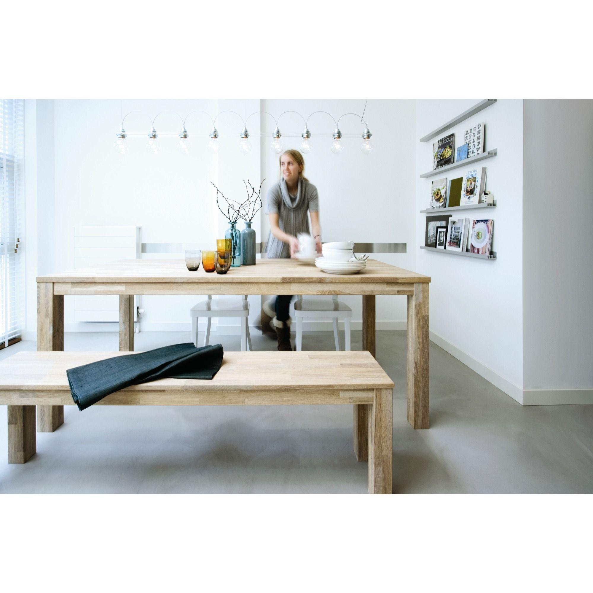 Eetkamer Tafel Largo.Woood Tafel Largo Eiken 200x90x78 Cm Ideeen Voor Thuisdecoratie