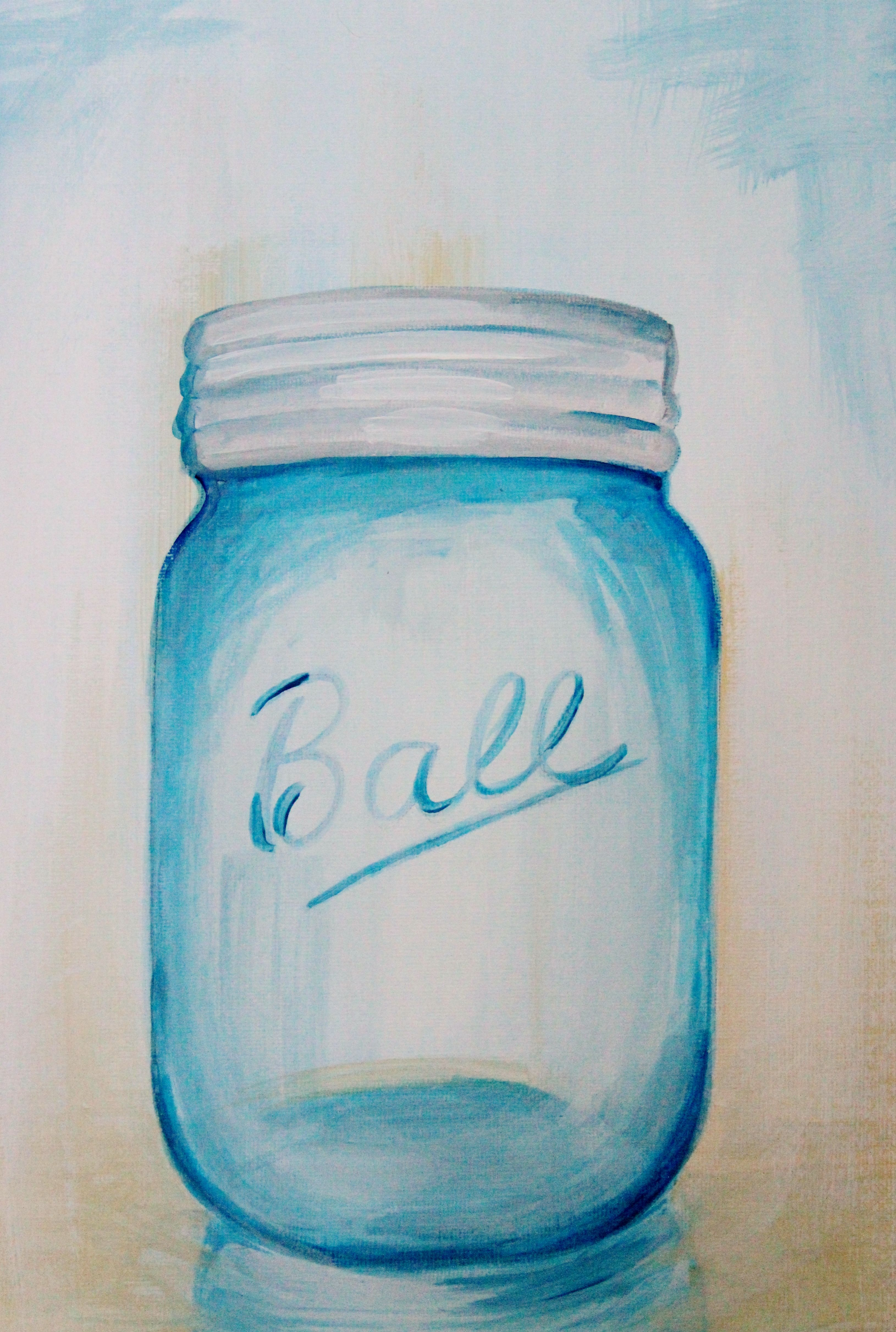 Mason Jar Acrylic Painting Easy Craft