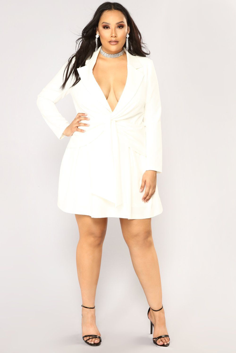 Sugar Daddy Blazer Dress - White | My Style-Plus | White dress ...