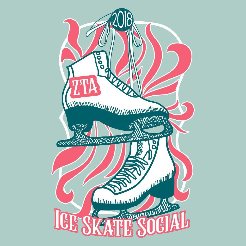 zeta tau alpha retro skate social design