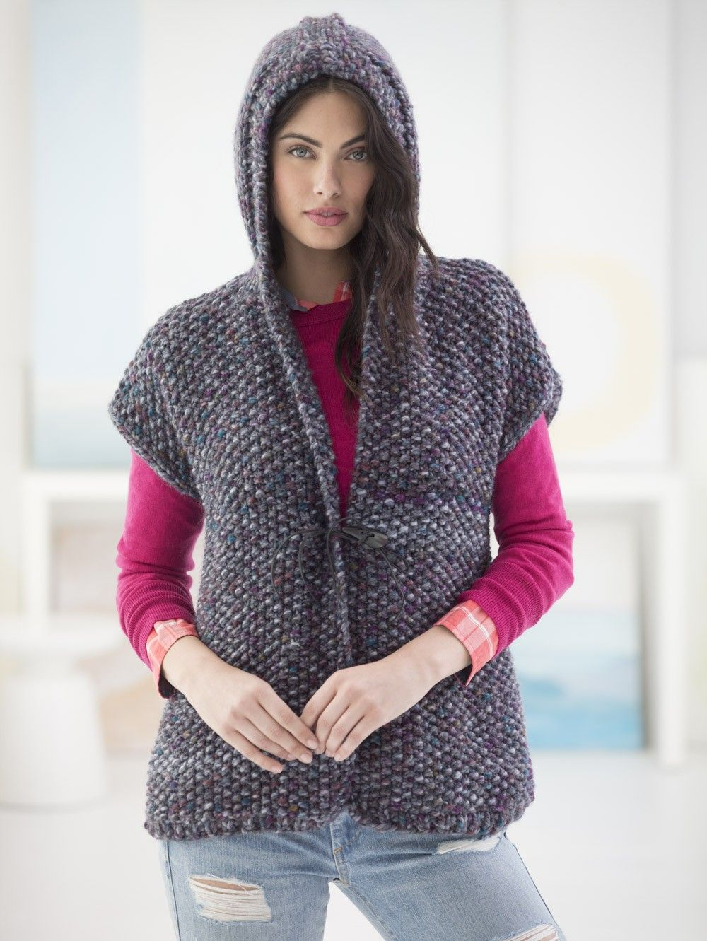 Powder Ridge Hooded Vest (Knit) | SHRUG-CARDIGAN-BOLERO-VEST | Pinterest