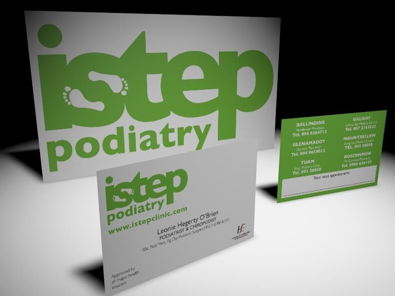 istep podiatrys brand new logo and business card design