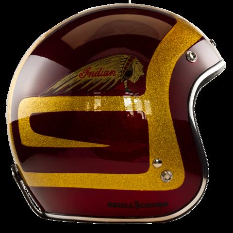 Custom Painted Indian Motorcycle Helmet – Skull Crush