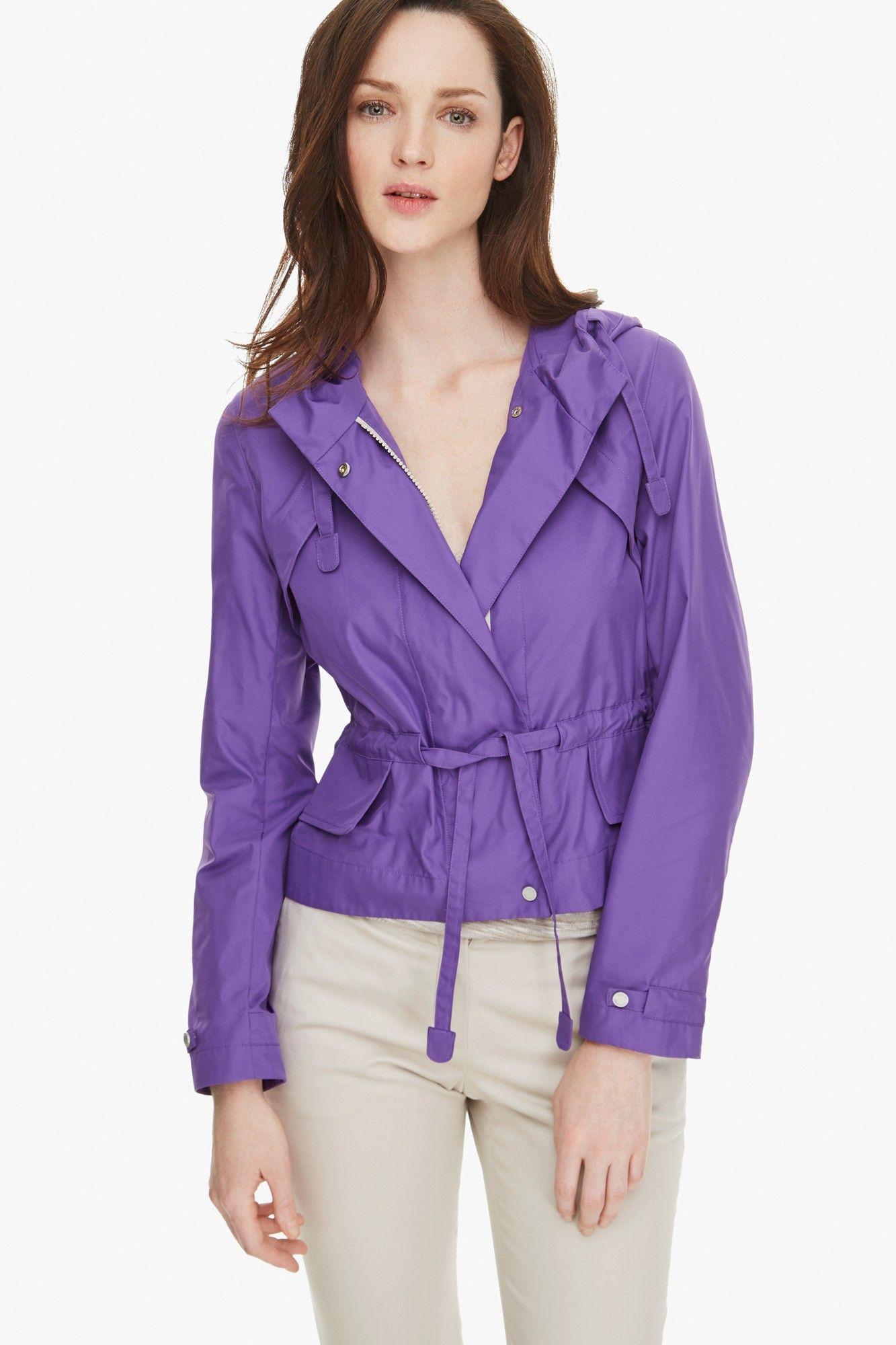 Cazadora capucha textura - chaquetas & chalecos | Adolfo Dominguez ...