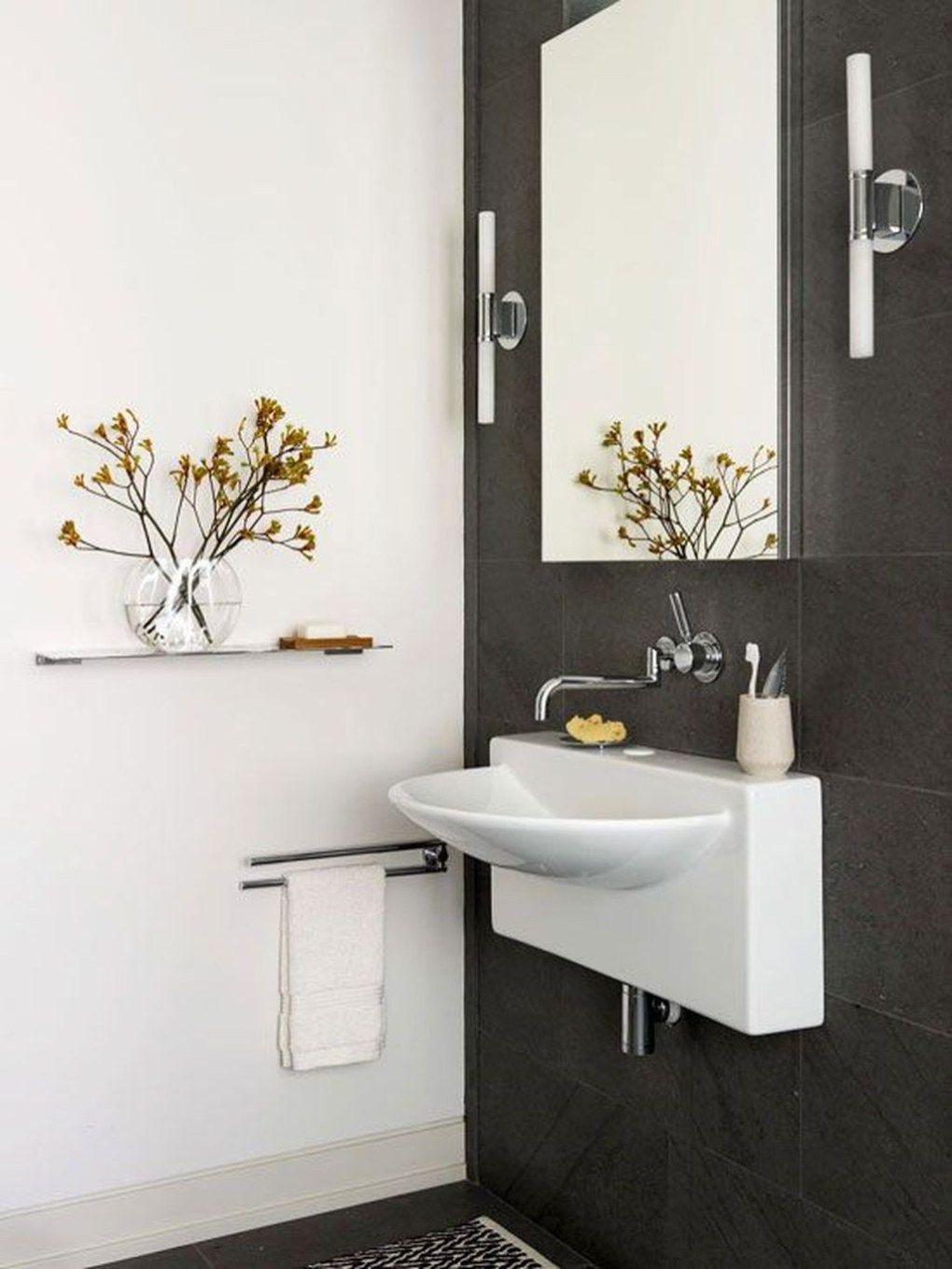Efficient small powder room design ideas bathroom in