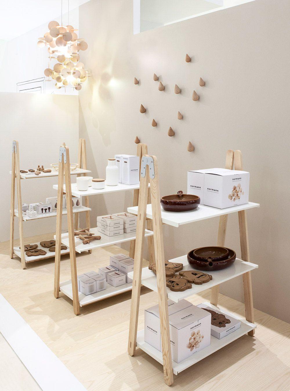 Normann Copenhagen Scandinavian Furniture Design Small Shelving Unit Store Design