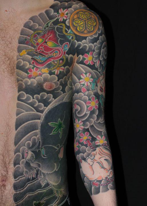 Japanese Tattoo Bodysuit Great Tats Tattoos Irezumi border=