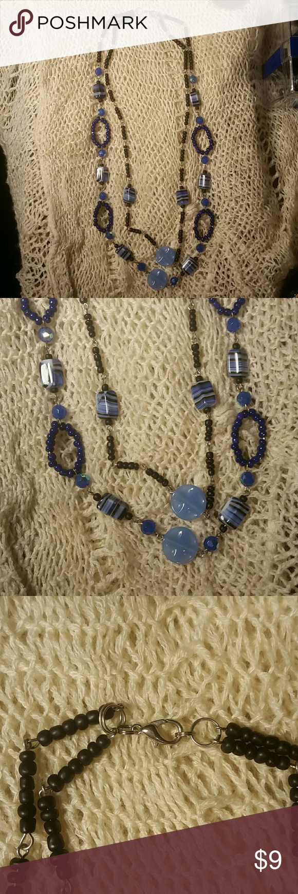 Homemade Jewerly This Awesome Blue Two Strand Made With