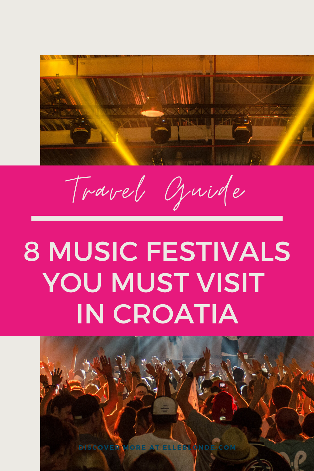 If you're looking for the best music festivals in the world then Croatia is one of the best music scenes in Europe. Click here to find out which 8 are worth going to.  #musicfestivals #croatia
