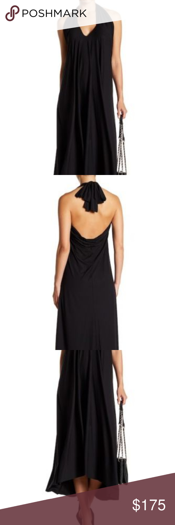 Wolford halter strap dress black size large in my posh