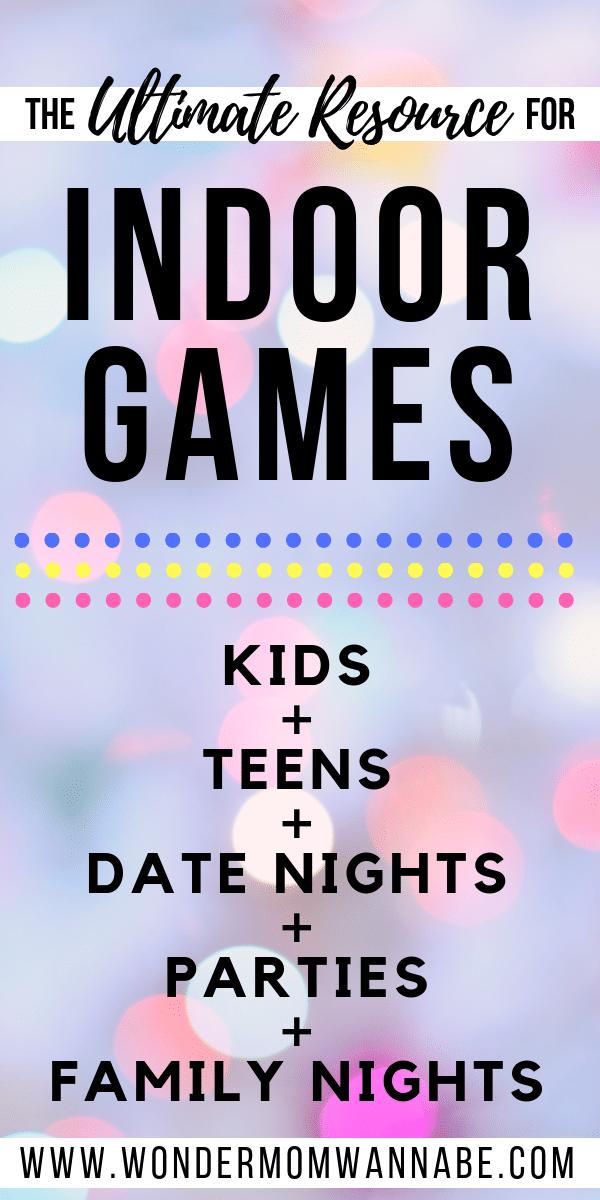 Indoor Games for All Ages Indoor games for kids, Indoor