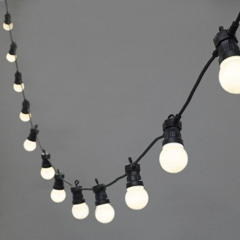 Guirlande fªte 20 globes LED de couleur blanc chaud intérieur