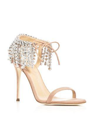 f0fc36ffb794 GIUSEPPE ZANOTTI Mistico Swarovski Crystal Ankle Tie High Heel Sandals.   giuseppezanotti  shoes  sandals