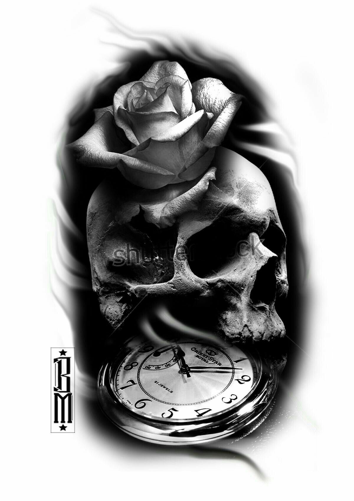 Skulltattoo Black And Grey Tattoos Sleeve Black And Grey Tattoos Grey Tattoo