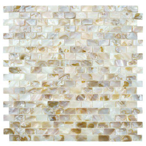 Seashell Subway Natural 12 1 2 X 12 1 4 Inch Shell Mosaic Wall Tile 10 Pcs 10 6 Sq Ft Per Case Http Mosaic Wall Tiles Shell Mosaic Tile Mosaic Tiles